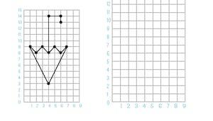 Reproduire sur une grille : exercice niveau 1