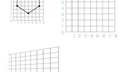 Reproduire sur une grille : exercice niveau 2