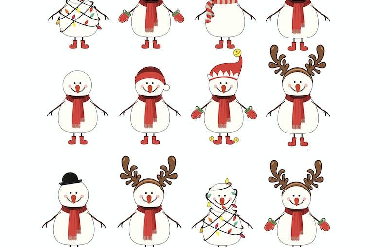 jeu paire bonhomme de neige