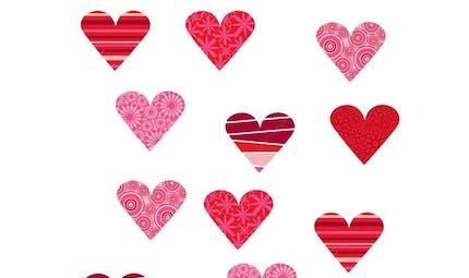 Retrouve les paires de coeurs