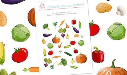 Retrouve les paires de légumes