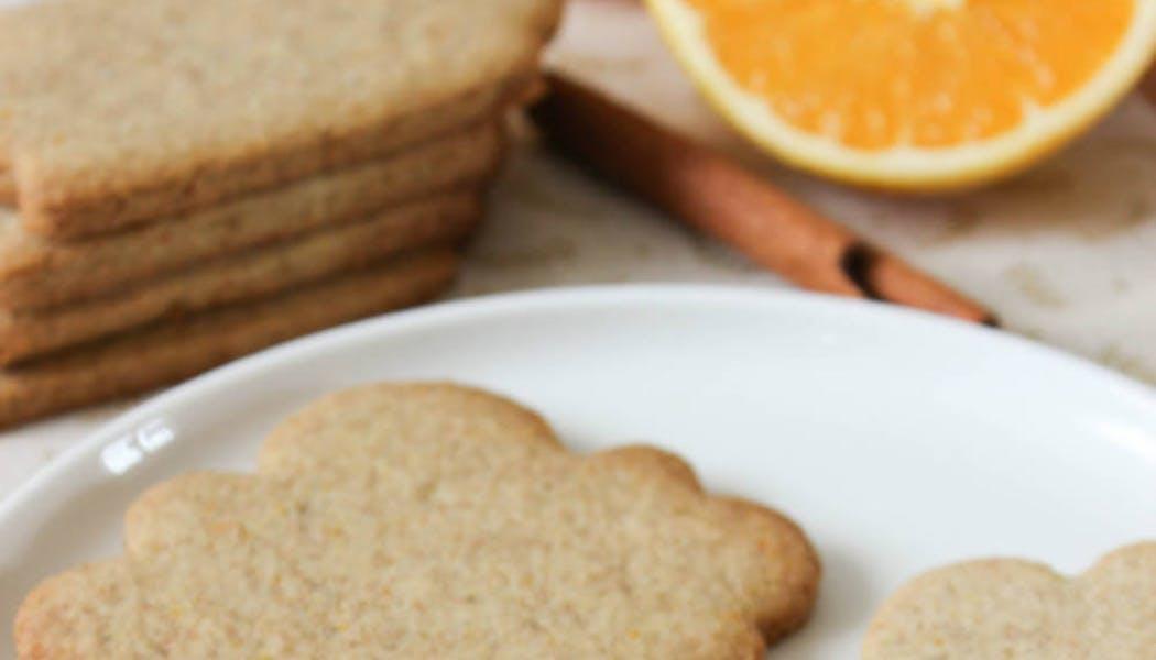 Sablés à l'orange et à la cannelle