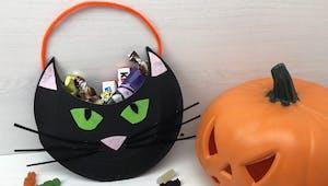 Sac à bonbons Chat noir d'Halloween