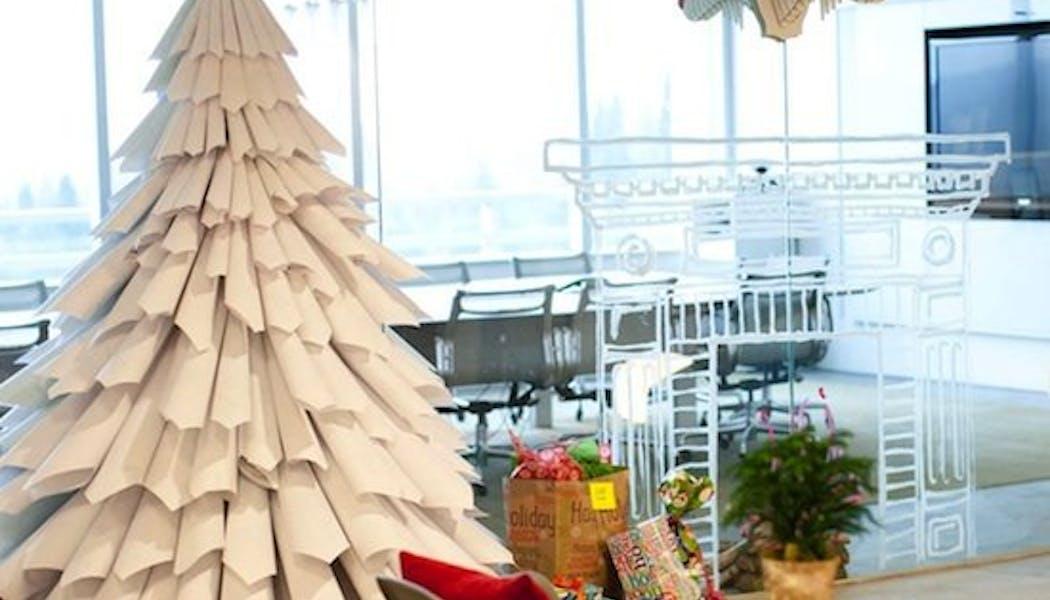 Sapin de Noël en papier