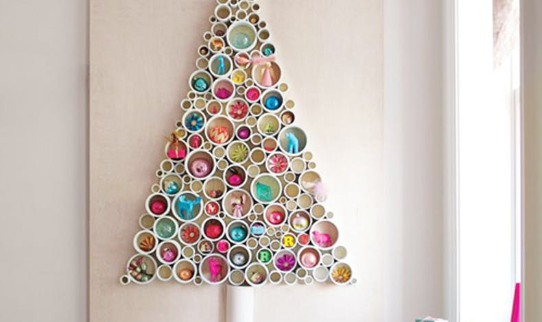 Sapin de Noël en tubes de pvc