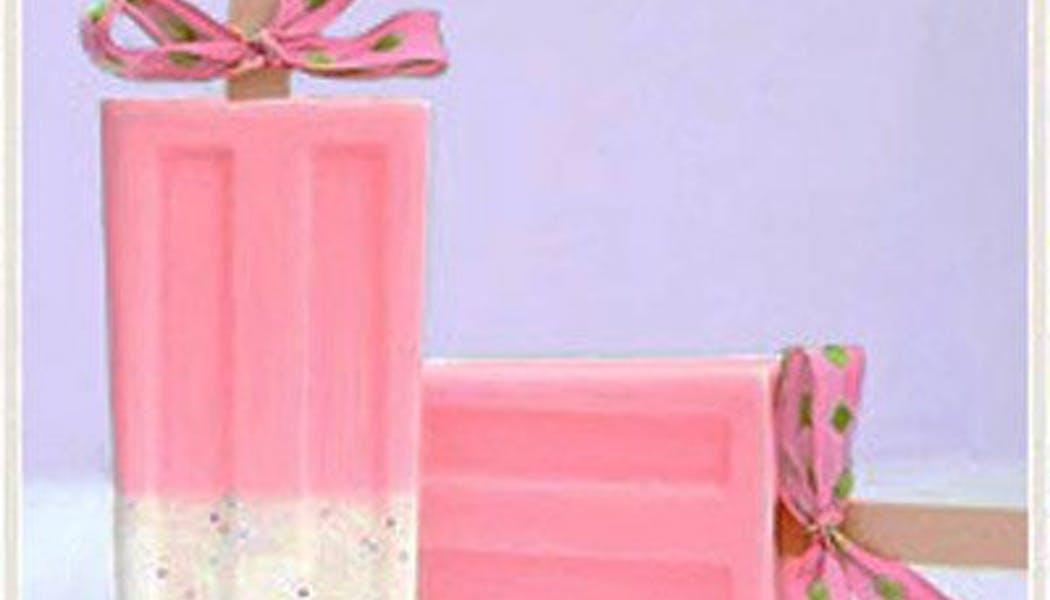 Savon glace confetti cupcake