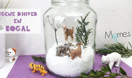 Scène d'hiver en bocal