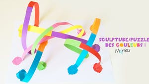 Sculpture de papier : les couleurs