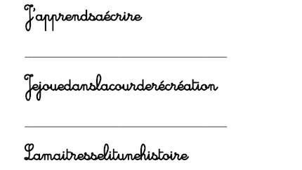 Séparer les mots pour faire des phrases : exercice
