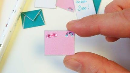 Set de mini-courriers à imprimer pour les fées