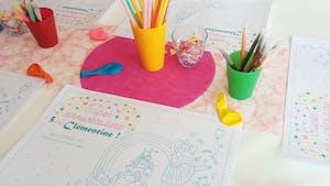 Set de table à colorier anniversaire Princesse - Fée