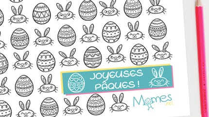 Set de table à imprimer et à colorier : spécial Pâques !