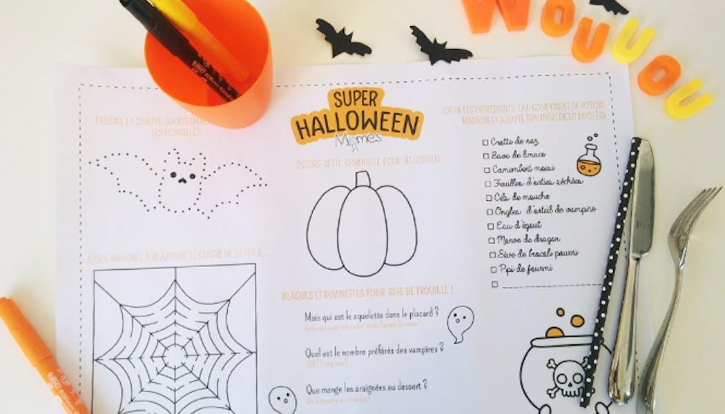 set de table halloween à imprimer