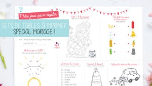 Set de table pour les enfants à un mariage