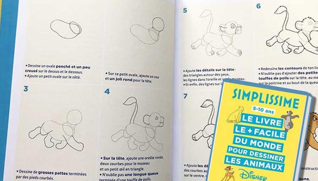 Simplissime - Le livre le plus facile du monde pour       dessiner les animaux Disney