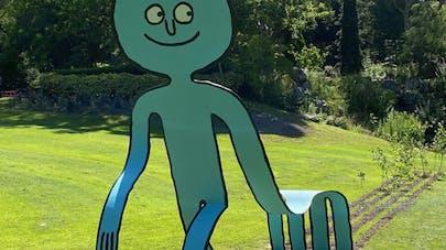 personnages artiste jean jullien jardin des plantes       nantes