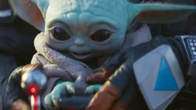 bébé yoda scène détournée en musique série the       mandolarian star wars Disney+