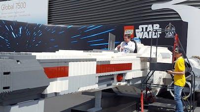 Star Wars Lego vaisseau X-Wing Starfighter Salon du       Bourget 2019