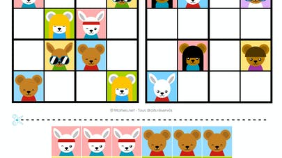 sudoku animaux maternelle