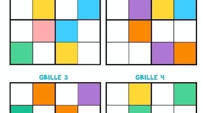sudoku couleurs maternelle