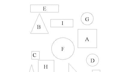 Tableau des formes géométriques: exercice