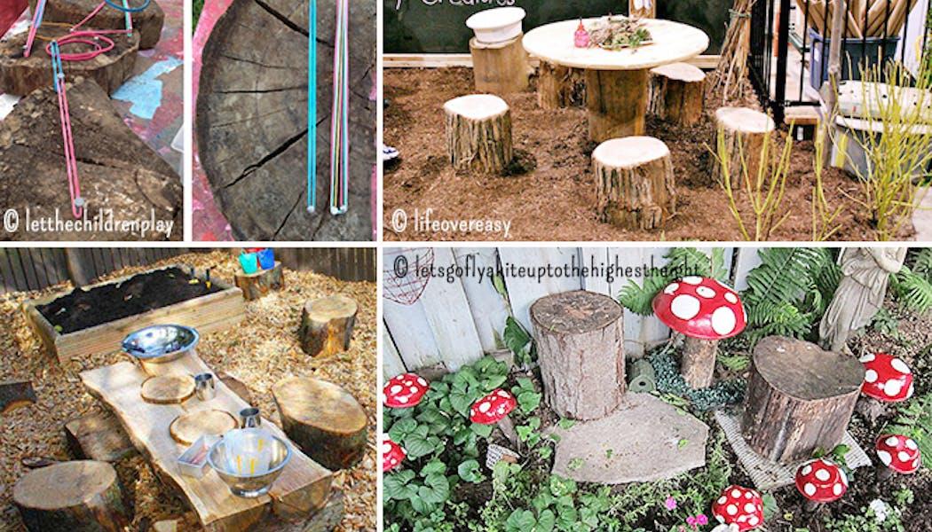 Tables et chaises en bois