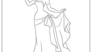 Tiana en robe de soirée