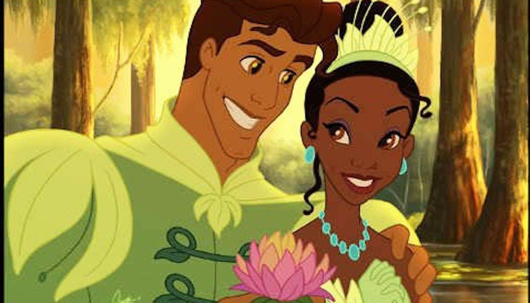 Tiana et le Prince Naveen de Maldonia (La Princesse et       la Grenouille)