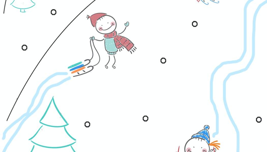 Tous en piste pour Noël - Exercice de tracé