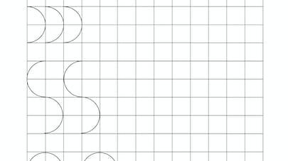 tracer des demi cercles maternelle