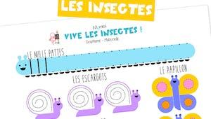 Traits, cercles, spirales et ponts avec les insectes