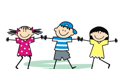 dessin enfants qui se tapent dans les mains