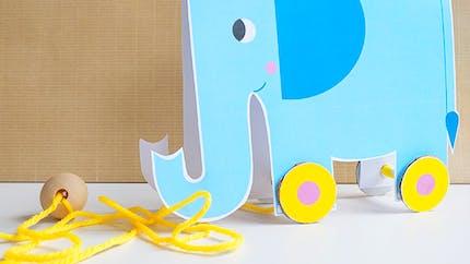 Trompette, l'éléphant à roulettes
