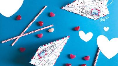 avion je t'aime saint-valentin fête des mères fête des       pères