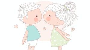 Un baiser sur ta joue, un poème de Charline