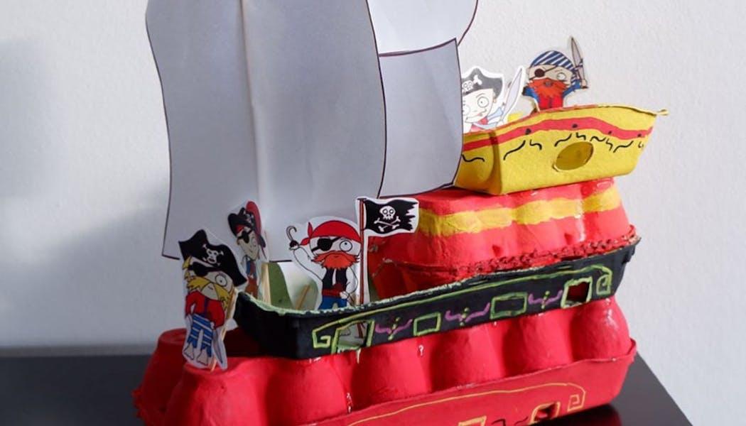 Un bateau de pirates