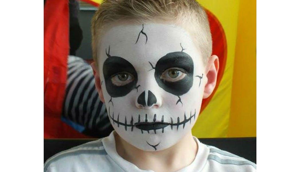 Un classique pour Halloween : le maquillage « tête de       mort »