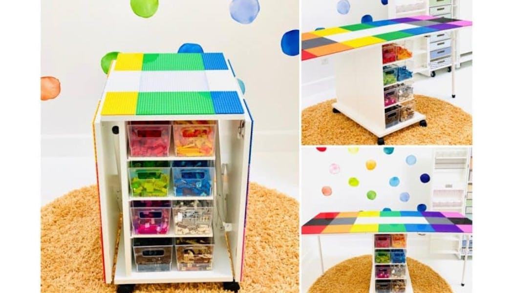 Un combo table et rangement spécial Lego