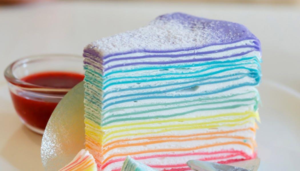 crêpes rigolotes gâteau crêpes arc-en-ciel chandeleur         mardi gras carnaval