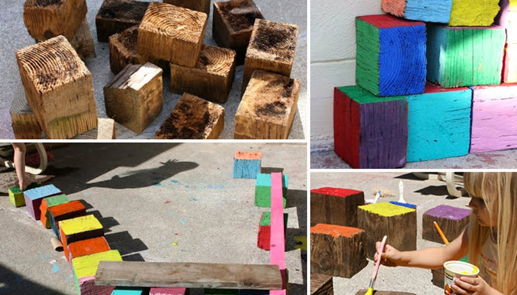 Un jeu de cubes géants