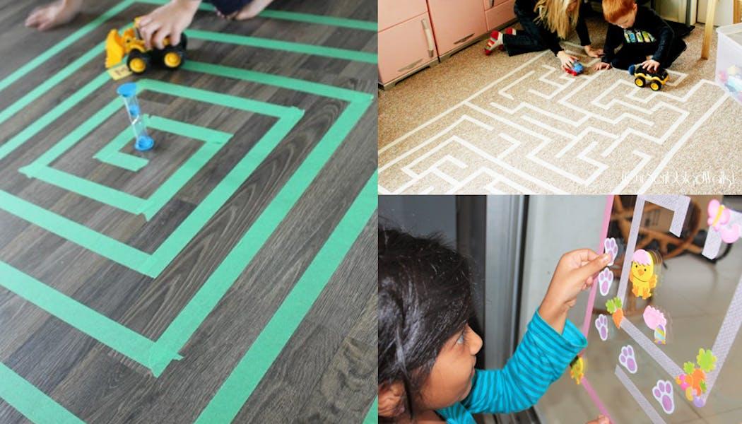 Un labyrinthe en Masking tape