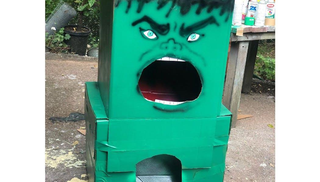 Un lancer de balle Hulk