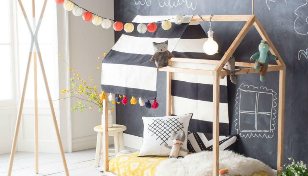 Un lit cabane ultra looké