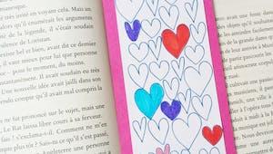 Un marque page à colorier : fête des Grands-mères