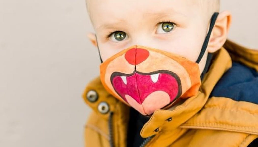 Un masque pour enfant qui a du mordant