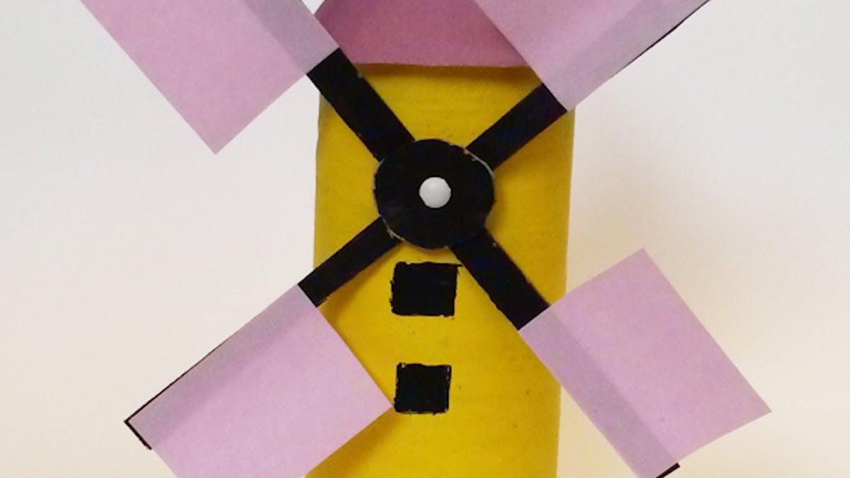 Un moulin en carton