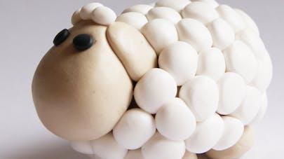 Un mouton en pâte Fimo