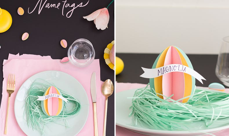 décorations table de Pâques
