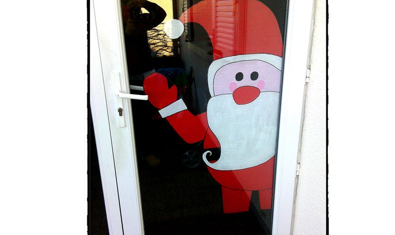 Un Père Noël de bienvenu