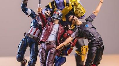 figurines super-héros photos humour hotkenobi